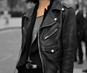 black, fashion, and leather image