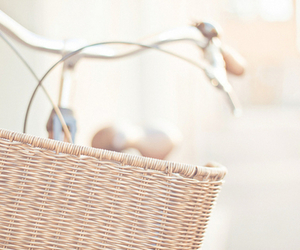 bike, bicycle, and basket image