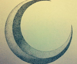 artwork, crescent, and moon image