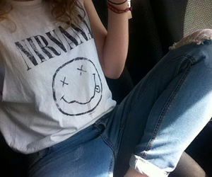 jeans, nirvana, and fashion image