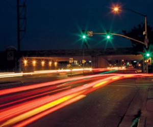 city lights, lights, and traffic image
