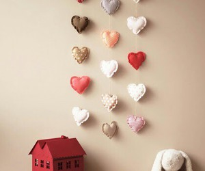 decor, diy, and heart image