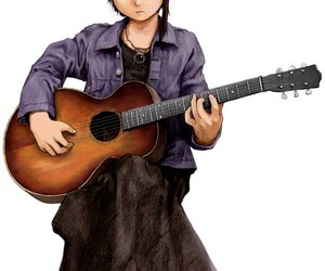 anime, girl, and guitar image