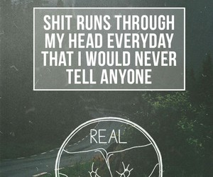 quote, band, and real friends image
