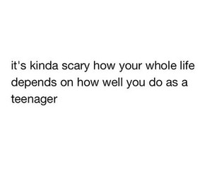 life, teenager, and quote image