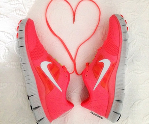 nike, heart, and shoes image