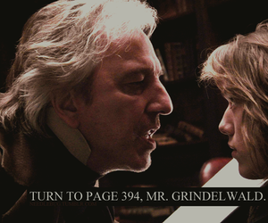 snape, sweeney todd, and grindelwald image