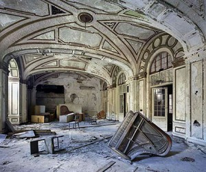 piano, abandoned, and detroit image