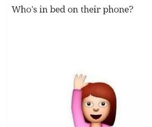 phone, bed, and funny image