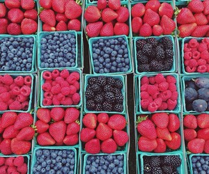 berries, fruit, and strawberry image