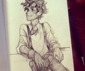 leo valdez, percy jackson, and drawing image