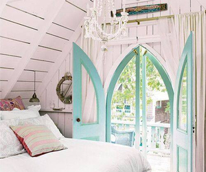 bed, cosy, and pillows image