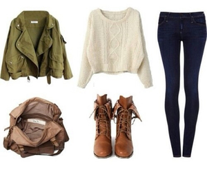 autumn, boots, and outfit image