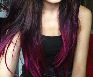girl, hair dye, and pink image
