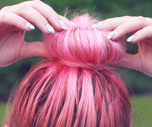 hair, pink, and amazing image