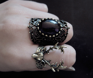 rings, ring, and black image