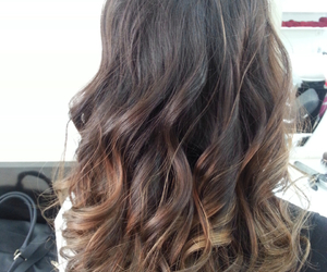 brunette, curly, and dark image