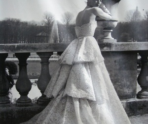 dior, black and white, and girl image
