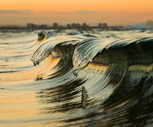 waves, sea, and beach image