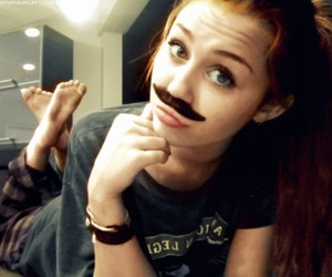 miley cyrus, miley, and mustache image