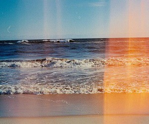 beach, beautiful, and colors image