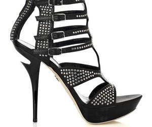 black, buckle, and high heel image