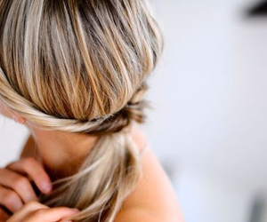 beauty, hair, and ponytails image