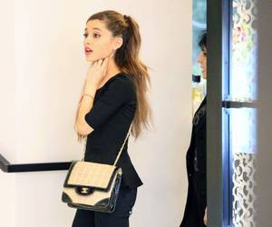 black, outfit, and ariana grande image