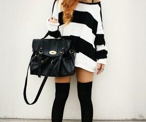 bag, black, and socks image