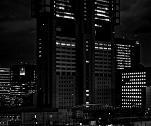 building, city, and dark image