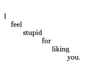 quote, stupid, and you image