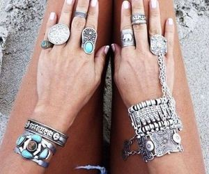 rings, blue, and love image