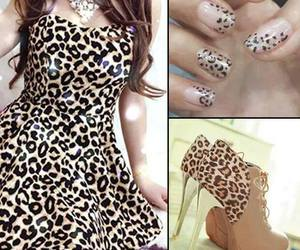 dress, nails, and fashion image