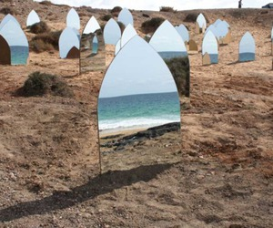 mirror, ocean, and photography image