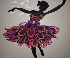 lady, silhouette, and paperquilling image