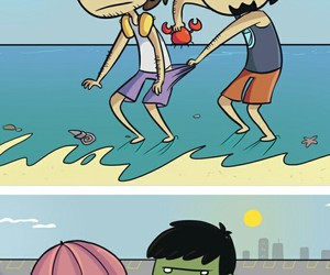 beach, funny, and Hulk image