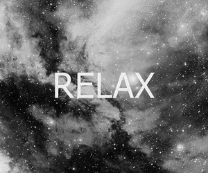 relax, stars, and galaxy image