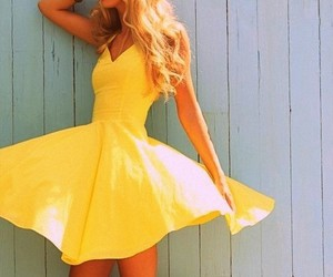 yellow, dress, and summer image