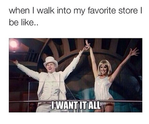 funny, store, and shopping image