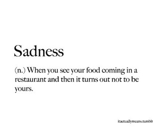 quote, food, and sadness image