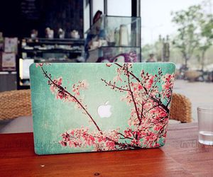 apple, flowers, and macbook image