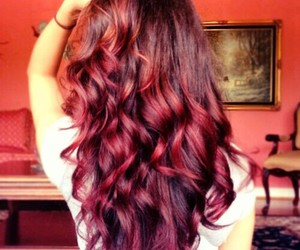 beauty, hair, and red image