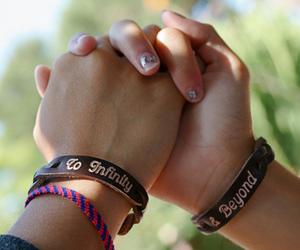 bracelet, friends, and hands image