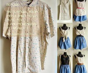 diy, clothes, and tutorial image