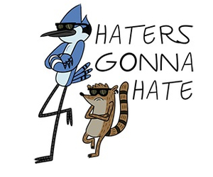 haters, rigby, and mordecai image