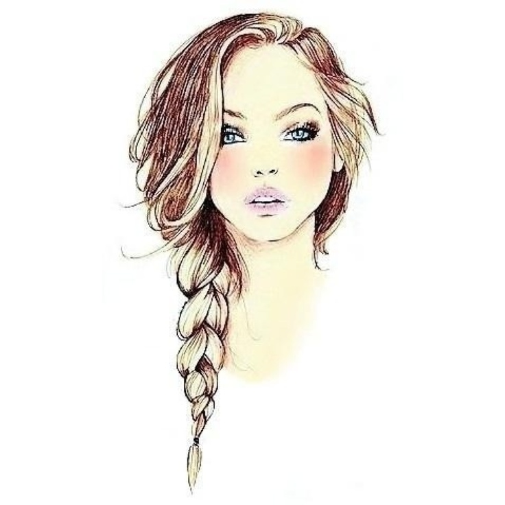 Sketch Of Braided Hair Shared By Taylor On We Heart It