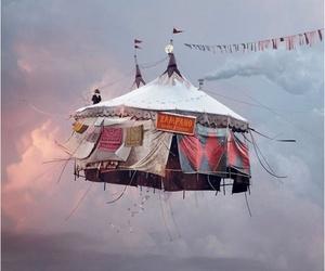 circus, sky, and fly image