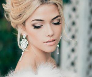 wedding, makeup, and hair image