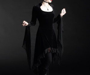 black, goth, and victorian image