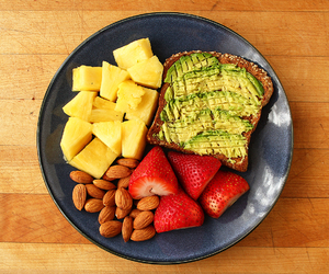 avocado, healthy, and meal image